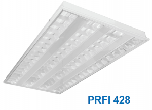Máng huỳnh quang âm trần hoặc gắn nổi 4x28w PRFI 428