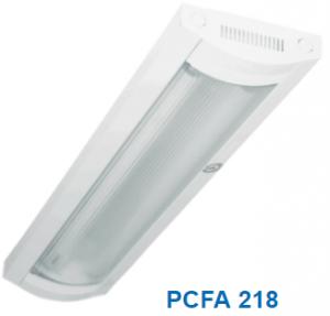 Đèn lắp nổi chóa nhựa 2x18w PCFA 218