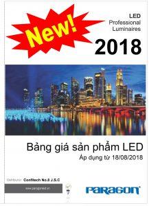 Bảng giá đèn led Paragon (18/08/2018)